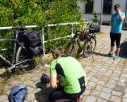 Startvorbereitungen nach unserer Anreise via Zug am Bahnhof Zittau