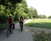 In Berlin bleibt die Tour weiter grün, hier im Volkspark Berlin-Köpenick