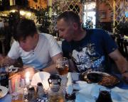 Finale des zweiten Tages in einem griechischen Restaurant in Fürstenwalde