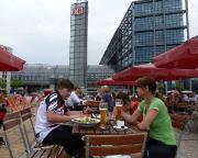 Berlin Hauptbahnhof, hier endet der Spreeradweg vermeintlich
