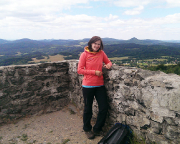 Auf dem Aussichtspunkt an der Hochwaldbaude - ich finde ein Muss, wenn man in diesem Gebirge unterwegs ist