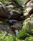 Beim Aufstieg zu den Nonnenfelsen kommt man am Einstieg des Nonnenfelsen-Klettersteiges vorbei - das ist demnächst unser Ziel.