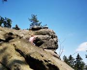 Am Gipfelkopf und ich sehe nicht einen Stich und muss aufgeben