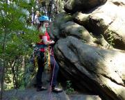 Almuth am Einstieg des Alten Weges an der Sächsischen Dianawand