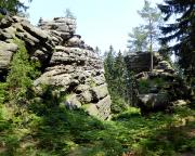 Die Sächsische und die Böhmische Dianawand, Ankunft am Tagesziel
