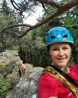 Böhmische Dianawand, Gipfelselfi, ich suche gerade das Gipfelbuch