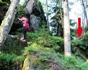 Almuth an der beschriebenen Wandstufe, der weiteren Aufstiegsmöglichkeit