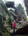 Geocaching an der Mausefalle bei Jonsdorf