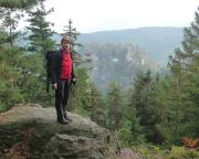 Auf dem Pferdeberg - ein ganz anderer Blick auf die Burgruine Oybin und den Scharfenstein