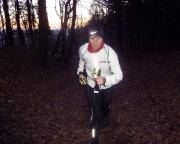Kottmar-Trailrunning - kurz vor dem Ziel geht es zum wiederholten Male heftig bergan - Christiane kämpft sich schimpfend den Berg hoch ;)