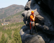 Mit herrlichem Talblick - Klettern am Unteren Mänch