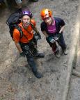 Am Einstieg des Klettersteigs am Nonnenfelsen