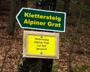 Klettersteig Alpiner Grat gesperrt, ein unerwarteter Tagesbeginn