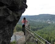 Aussichtspunkt Mönchskanzel an der Oberen Felsengasse