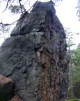 Das Kletterziel vor Augen, die Quacke Kleine Teufelsmauer