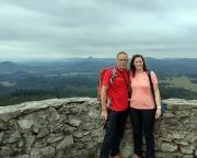 Auf der Aussichtsplattform der Hochwaldbaude