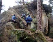 Alter Weg an der Oberen Sumpfbuschspitze