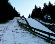 Berglauftraining an der Skisprungschanze auf dem Kottmar