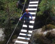 Auch die Hängebrücke - kein Problem