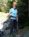 Fertig für den Gipfelsturm: am Einstieg des Rehsteins