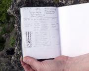 Unsere Gipfelbucheinträge von der Rübezahlwand