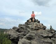 Mönchwand hoch oben und doch noch lange nicht auf dem Gipfel