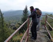 Böhmische Aussicht nahe der Töpferbaude, leider schlechte Sicht