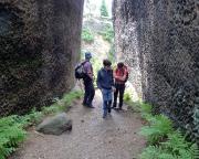 In den beeindruckenden Mühlsteinmbrüchen bei Jonsdorf