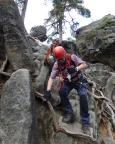 Auch unser Senior Peter schafft den Nonnenfelsen-Klettersteig schließlich komplett