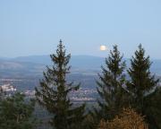 ... und überraschend Zeuge des Mondaufganges über dem Isergebirge wurden.