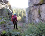 Beim Abstieg durch die Scharte zwischen Rübezahlwand und Silberrücken