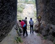 Kurz danach der erste Aussichtspunkt in den Steinbruch Schwarzes Loch