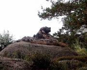 Auf dem Weiterweg trifft man u.a. dieses Felsgebilde, den Frosch