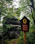 Naturdenkmal Drei Tische, der Aufstieg in die Steinbrüche hat begonnen