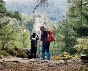 Auf dem Pferdeberg mit Blick zur Burg- und Klosterruine Berg Oybin