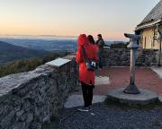 Kurz nach Sonnentergang am Aussichtspunkt Hochwaldbaude