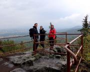 Auch im Regen ein Besuch wert, die Böhmische Aussicht am Töpfer