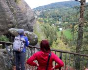 Blick auf Jonsdorf wenige Meter vor Erreichen des Gasthauses