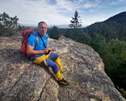 Auf dem Gipfel des Robertfelsen, einem herrlichen Aussichtspunkt