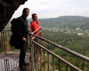 An der Mönchskanzel in der Großen Felsengasse von Oybin