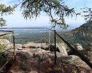 Götzenstein – Aussichtspunkt deutlich über dem Robertfelsen