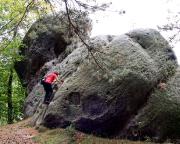 Hexenstein im Zentrum von Oybin, Almuth im Alten Weg
