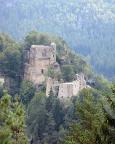 Kloster- und Burgruinen Berg Oybin vom Aussichtspunkt Pferdeberg