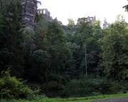 Kloster- und Burgruinen Berg Oybin aus Sicht des Hausgrundes