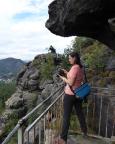 Mönchskanzel mit dem Felsgebilde Taube an der Oberen Felsengasse