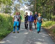Beginn der Tagestour an der Töpferbaude mit dem Abstieg nach Oybin