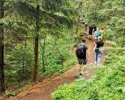 Unterwegs von der Hochwaldbaude durch die Obere Felsengasse zum Töpfer