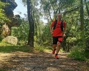 Zieleinlauf nach guten 10 km am Opferstein an der Töpferbaude