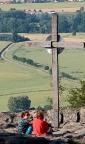 Tagesausklang, Auswertung, einfach genießen – am Gipfelkreuz auf dem Töpfer