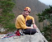 Auf dem Gipfel Hebamme im Wildensteiner Gebiet, April 2009